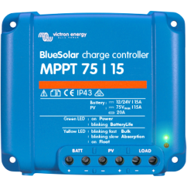 Régulateur de charge BlueSolar MPPT 75 12V / 24V 10/15A