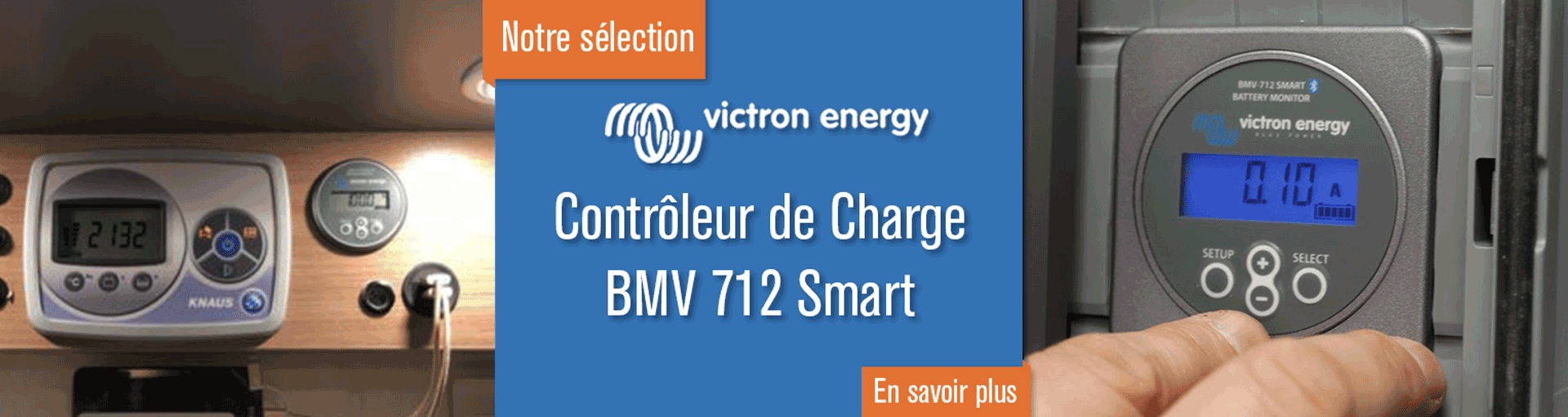 Contrôleur De Charge Batterie BMV 712 Smart - Victron Energy